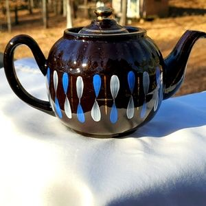 Other - Teapot, antique, brown/blue, made in england